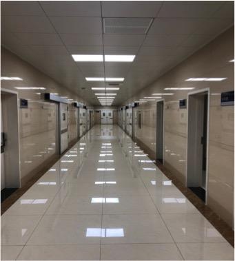 烟台公安局法医解剖中心走廊